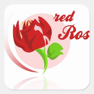 Adesivo Quadrado Flor vermelha dos inimigos