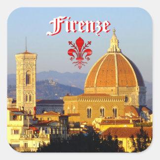 Adesivo Quadrado Florença - Santa Maria del Fiore