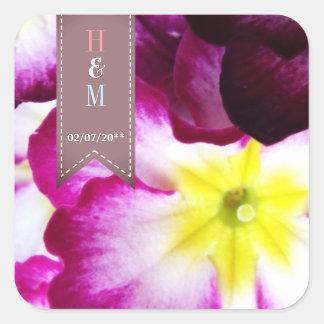Adesivo Quadrado Flores coloridas que Wedding