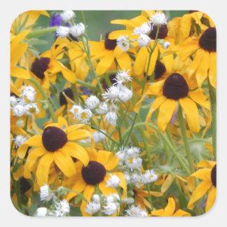 Adesivo Quadrado Flores susan de olhos pretos