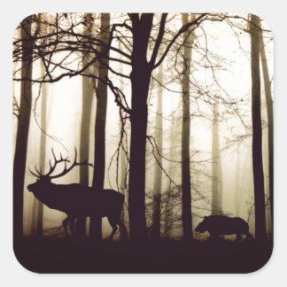 Adesivo Quadrado floresta