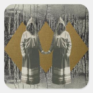 Adesivo Quadrado Floresta das irmãs
