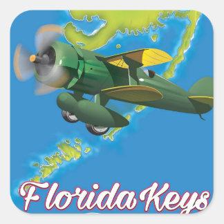 Adesivo Quadrado Florida fecha o poster de viagens