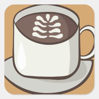 Adesivo Quadrado Flourish do café