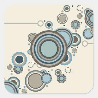 Adesivo Quadrado Fluência dos círculos