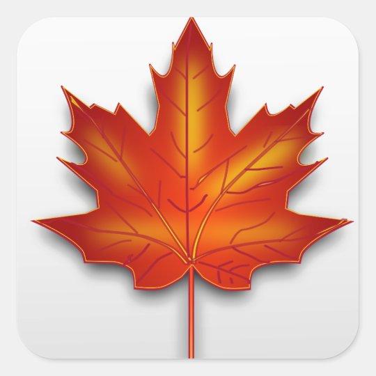 Adesivo Quadrado Folha Canadá