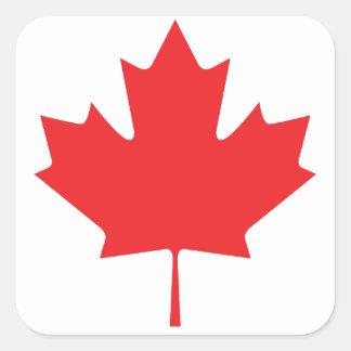 Adesivo Quadrado Folha de bordo canadense