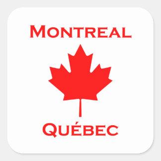 Adesivo Quadrado Folha de bordo de Montreal Quebeque