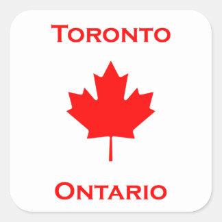 Adesivo Quadrado Folha de bordo de Toronto Ontário