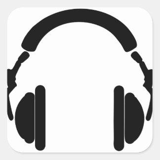 Adesivo Quadrado Fones de ouvido