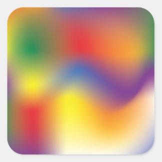 Adesivo Quadrado Fonte colorida do papel de embrulho da tintura do