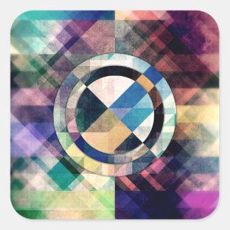 Adesivo Quadrado Formas geométricas Textured