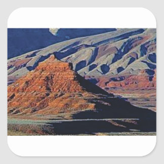 Adesivo Quadrado formas naturais do deserto