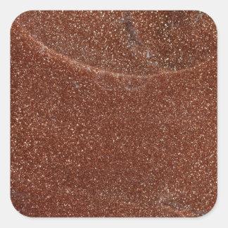 Adesivo Quadrado Foto macro do vidro de Goldstone