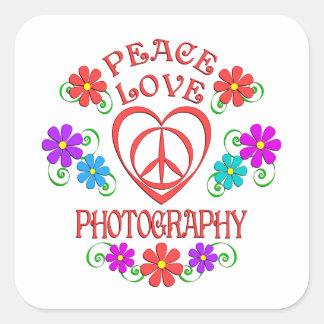 Adesivo Quadrado Fotografia do amor da paz