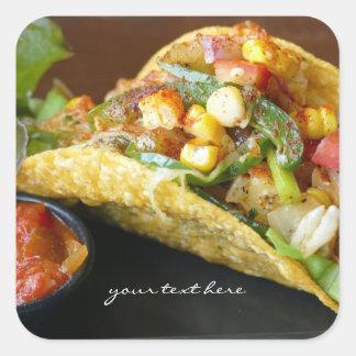 Adesivo Quadrado fotografia mexicana deliciosa do Tacos