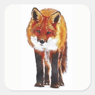 Adesivo Quadrado Fox vermelho