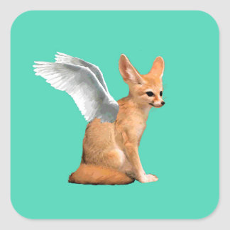 Adesivo Quadrado Fox voado de Fennec