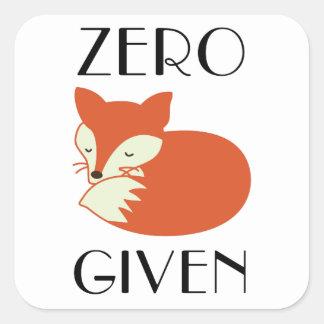 Adesivo Quadrado Fox zero dado
