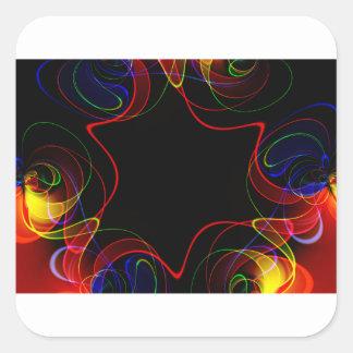 Adesivo Quadrado Fractal #2 do arco-íris