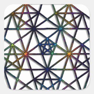 Adesivo Quadrado Fractal sagrado da geometria da abundância da vida
