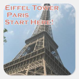 Adesivo Quadrado Francês do verão 2016 de Paris France da torre