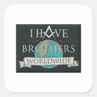 Adesivo Quadrado Fraternidade mundial