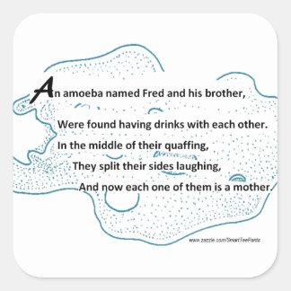 Adesivo Quadrado Fred a ameba - um poema da ciência de