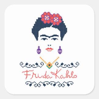 Adesivo Quadrado Frida Kahlo | Viva México