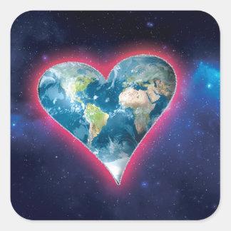 Adesivo Quadrado Funda-o acima do desafio do amor