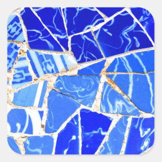 Adesivo Quadrado Fundo azul abstrato