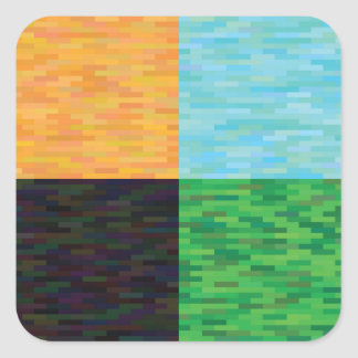 Adesivo Quadrado fundo colorido