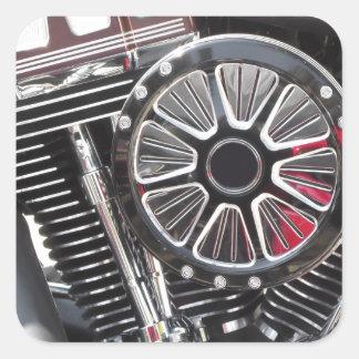 Adesivo Quadrado Fundo cromado motocicleta do detalhe do motor