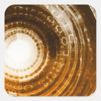 Adesivo Quadrado Fundo do abstrato dos dados binários para Digitas