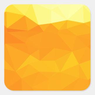 Adesivo Quadrado Fundo do polígono do abstrato do amarelo do Cyber