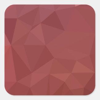 Adesivo Quadrado Fundo do polígono do abstrato do roxo do amaranto