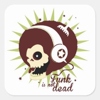 Adesivo Quadrado Funk not dead