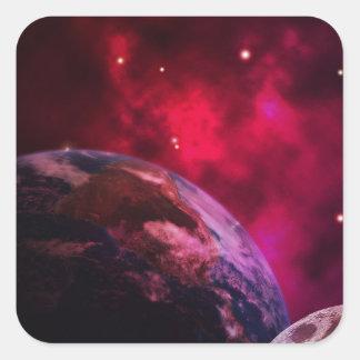 Adesivo Quadrado Galáxia roxa 2 - purple galaxy