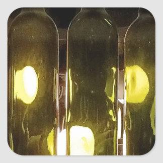 Adesivo Quadrado Garrafa de vinho Funky artística de Masculinev