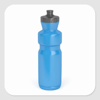 Adesivo Quadrado Garrafa plástica azul