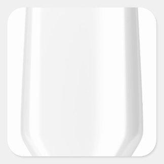Adesivo Quadrado Garrafa plástica branca para o champô
