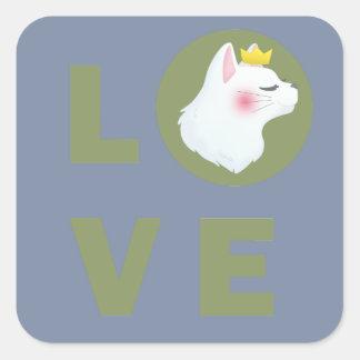 Adesivo Quadrado Gato do amor
