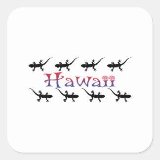 Adesivo Quadrado gecos do hawai