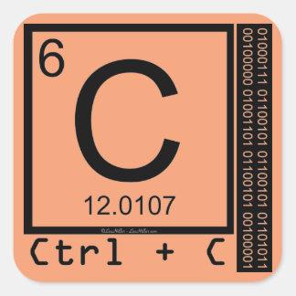 Adesivo Quadrado Geek mim! Cópia de carbono