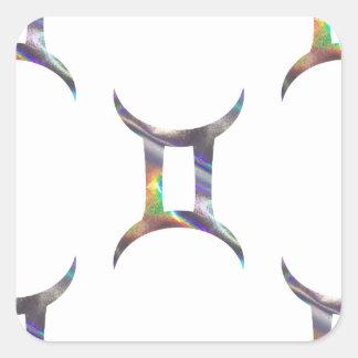 Adesivo Quadrado Gêmeos do holograma