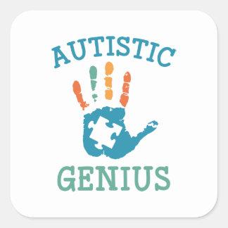 Adesivo Quadrado Gênio autístico