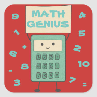 Adesivo Quadrado Gênio da matemática