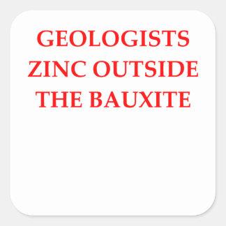 Adesivo Quadrado geologia