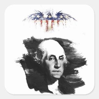 Adesivo Quadrado George Washington