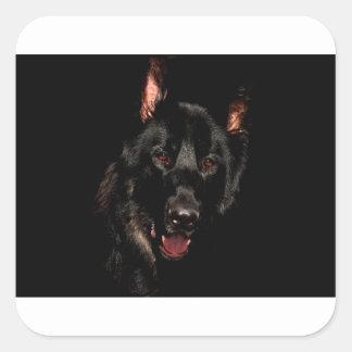 Adesivo Quadrado German shepherd preto